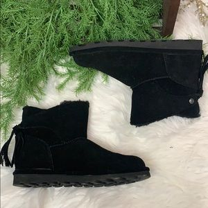 Black BearPaw Ankle Boots